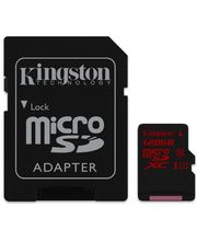 Kingston microSDXC 128GB Class 10/UHS-I U3, zápis 80MB/s + SD adaptér